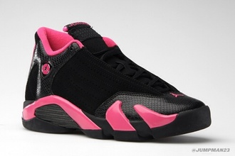 shoes pink shoes pink and black jordan's sneakers jordan shoes jordans jordan style fashion cute shoes sneakers
