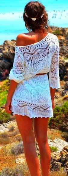 white dress crochet dress summer dress crochet dress spring dress
