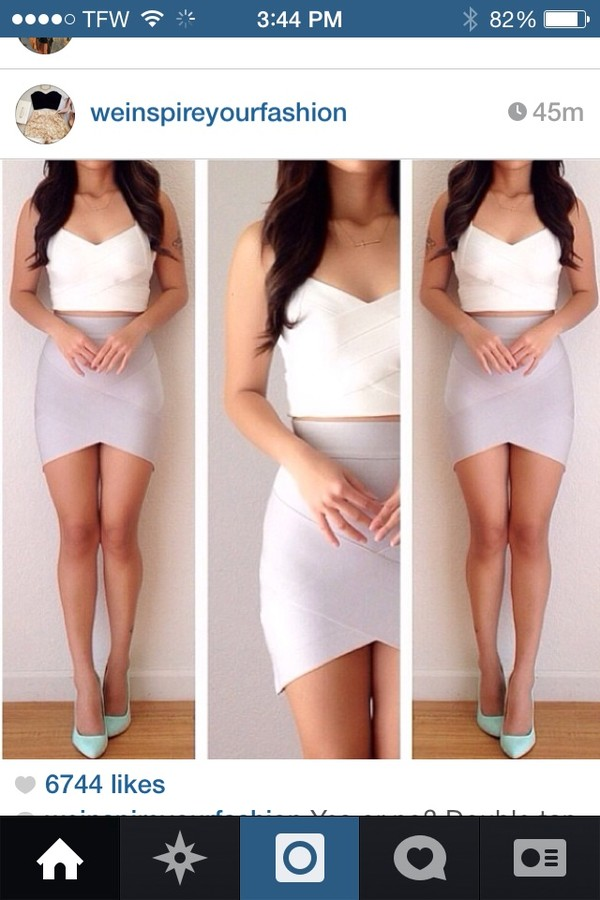 skirt white crop tops white crop tops beige skirt tight skirts half long