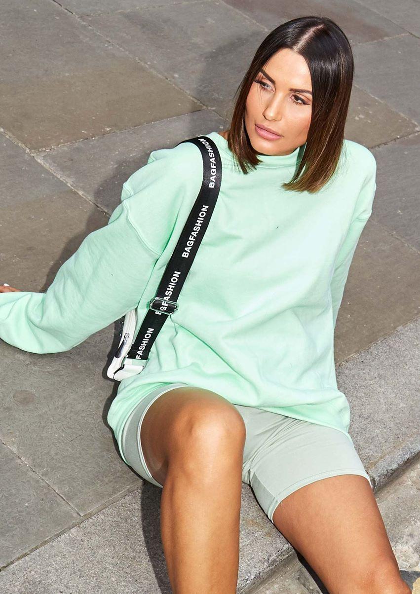 Lena Mint Green Oversized Sweatshirt