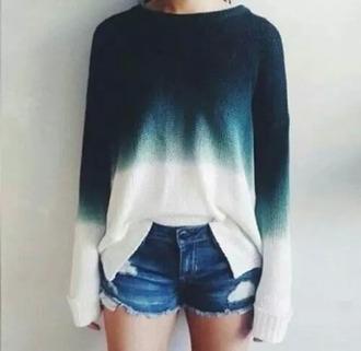 sweater tie dye sweater blue shirt