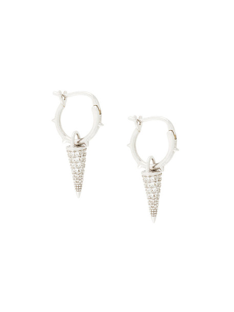 FEDERICA TOSI women earrings grey metallic jewels