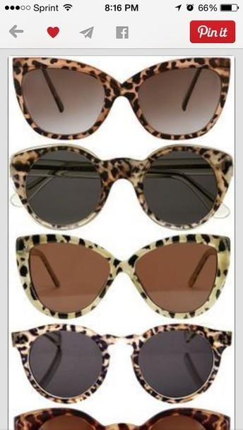 sunglasses leopard print