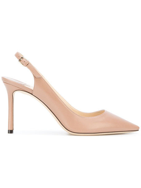 Jimmy Choo women pumps leather nude shoes