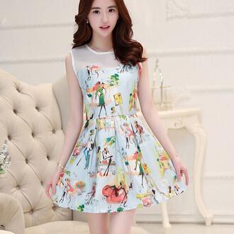 dress cartoon sleeveless cute holiday dress