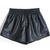 Black Elastic Waist PU Leather Shorts -SheIn(Sheinside)