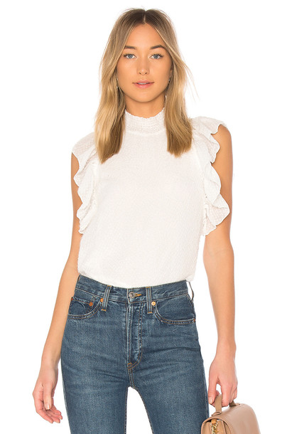 Endless Rose top ruffled top white