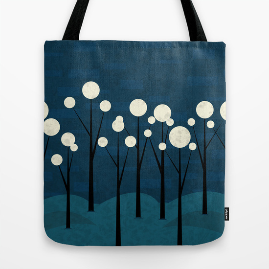 Moon forest tote bag by rbwpictures