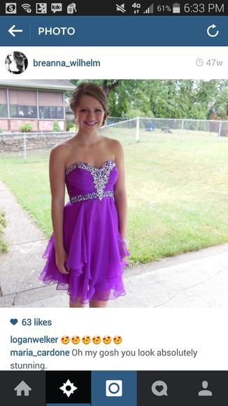 purple dress tool sparkly