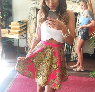 skirt pink skirt fashion style pretty