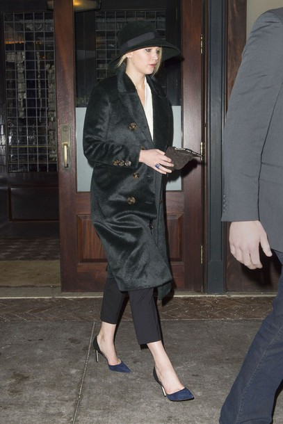 jennifer lawrence burberry coat