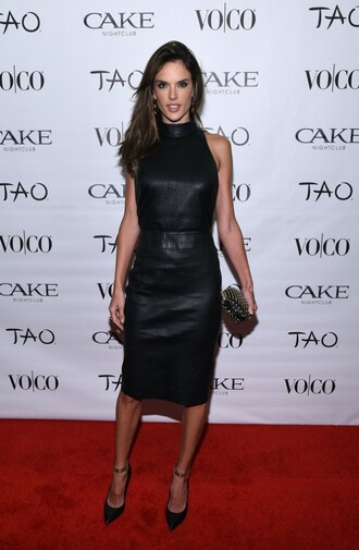 dress leather alessandra ambrosio clutch bag