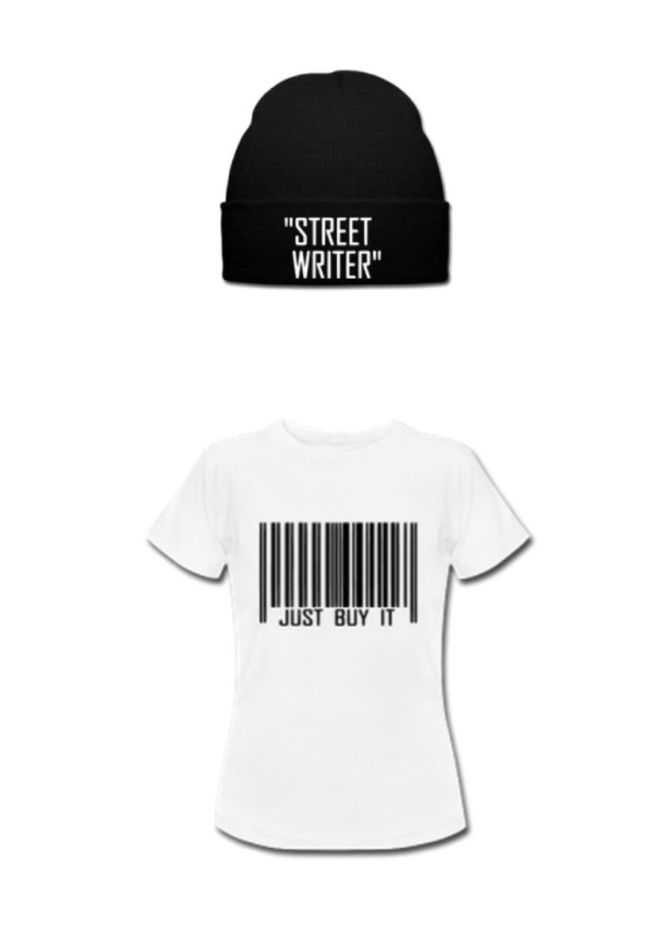 hat black and white street t-shirt shirt