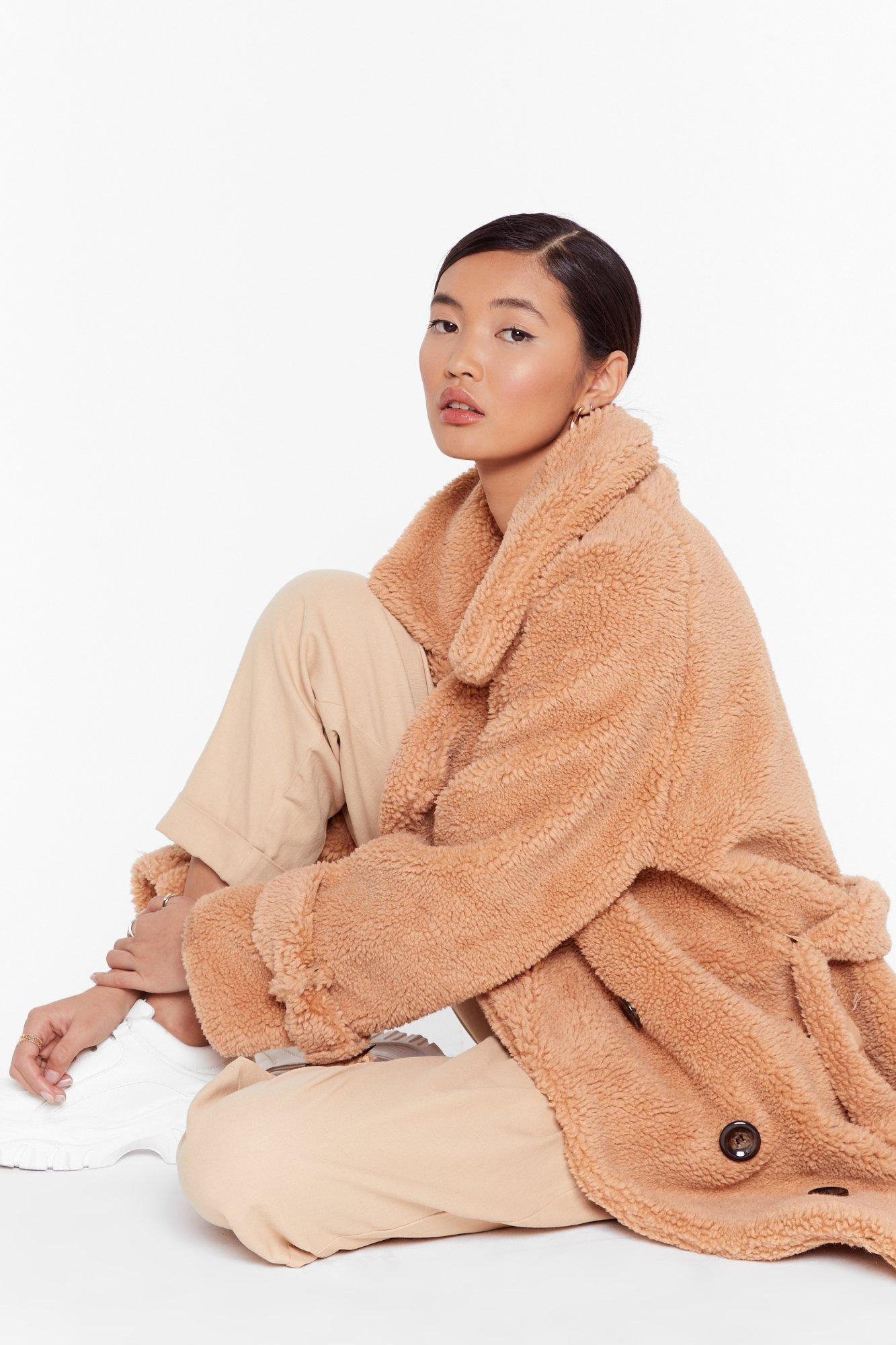 Are You Teddy Fur It Faux Shearling Longline Coat | Shop Clothes at Nasty Gal!