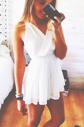 dress summer dress summer spring dress white white dress pretty dress perfect dress v-neck dres spring