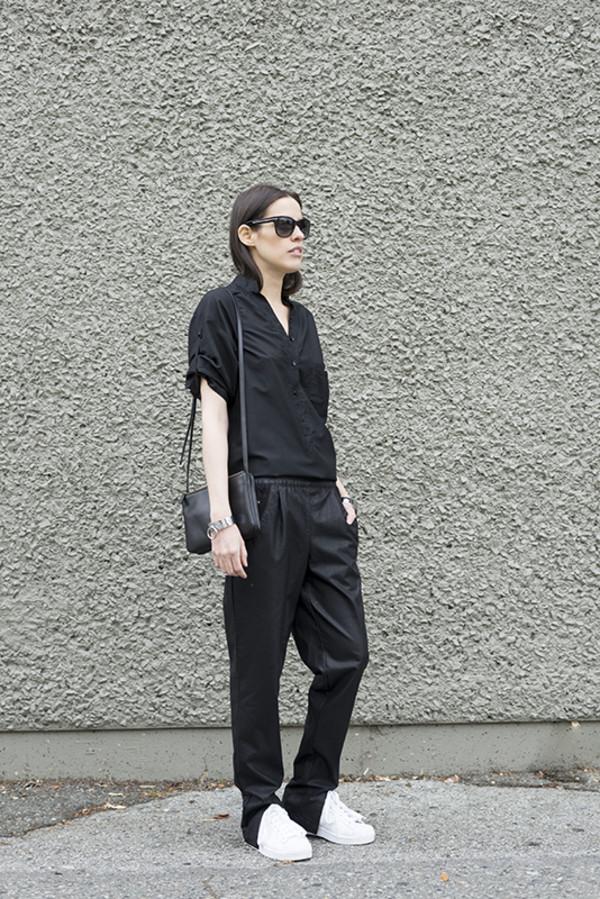 melissa araujo top bag sunglasses jewels pants