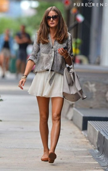 blouse skirt olivia palermo beautiful beautiful bags t-shirt clothes leopard print zebra