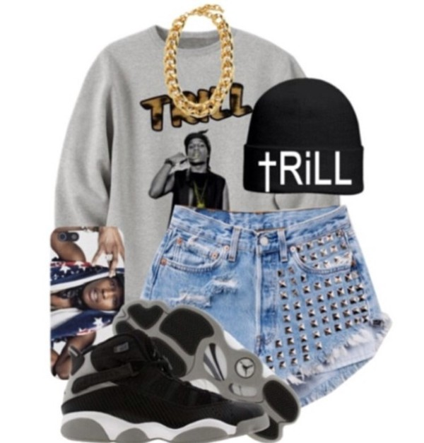 shorts hat shirt jewels