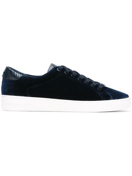 MICHAEL Michael Kors women sneakers leather cotton blue velvet shoes