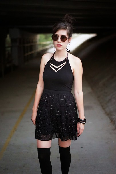 a fashion nerd blogger jewels top sunglasses