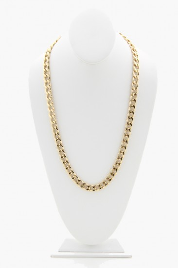 OMG Long Chain Necklace - Gold