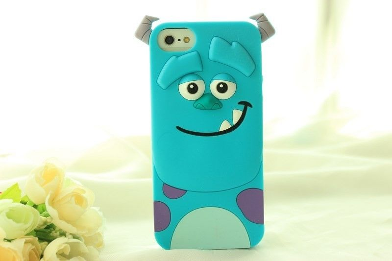 3D Monster Inc University Sulley Silicone Soft Back Full Case Cover For iPhone