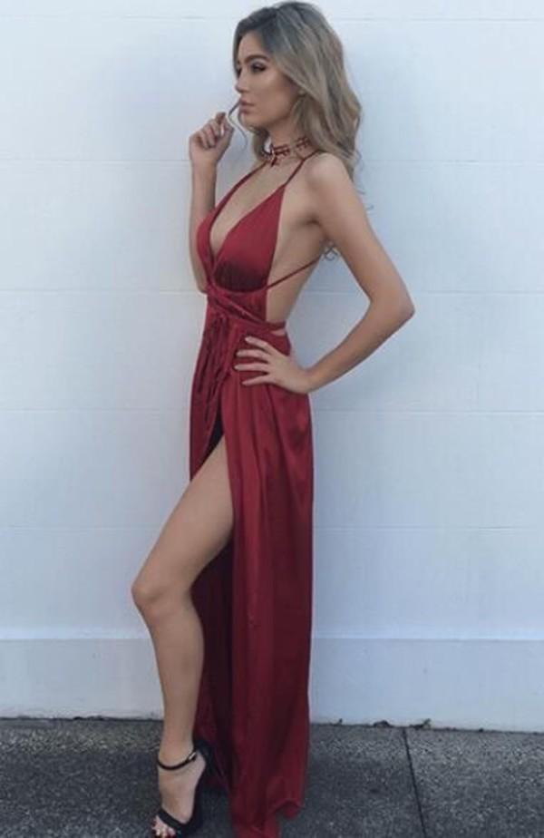 dress dark red prom dress dark red prom dress long prom dress red burgundy burgundy dress formal long homecoming dress