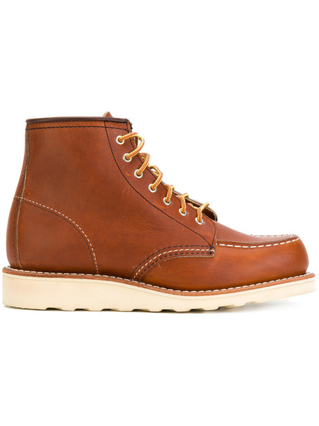Red Wing Shoes women lace leather brown shoes