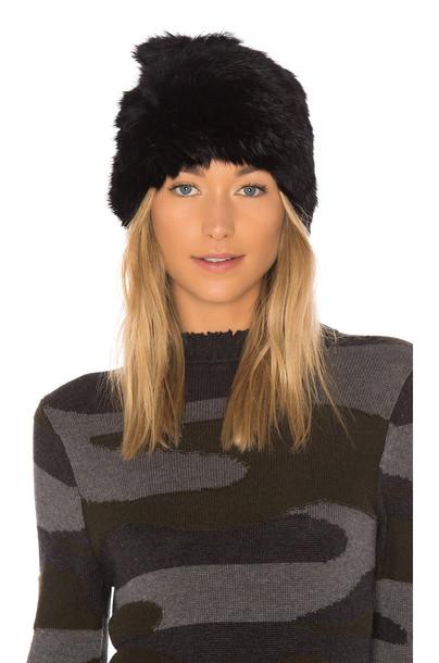 Hat Attack fur beanie black hat