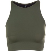 top,olive top,green,halter top,crop tops,cute,stylish,sleeveless top,i need a couple of these!!,love