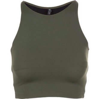 top olive top green halter top crop tops cute stylish sleeveless top i need a couple of these!! love