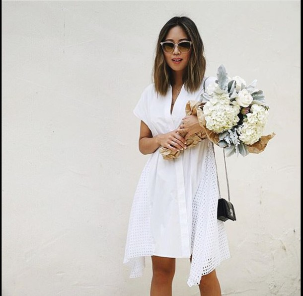 Dress: white white dress mesh dress lace fashion flowers ...