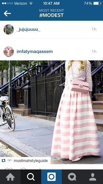 skirt pink pink and white striped skirt maxi skirt pink skirt maxi striped skirt stripes