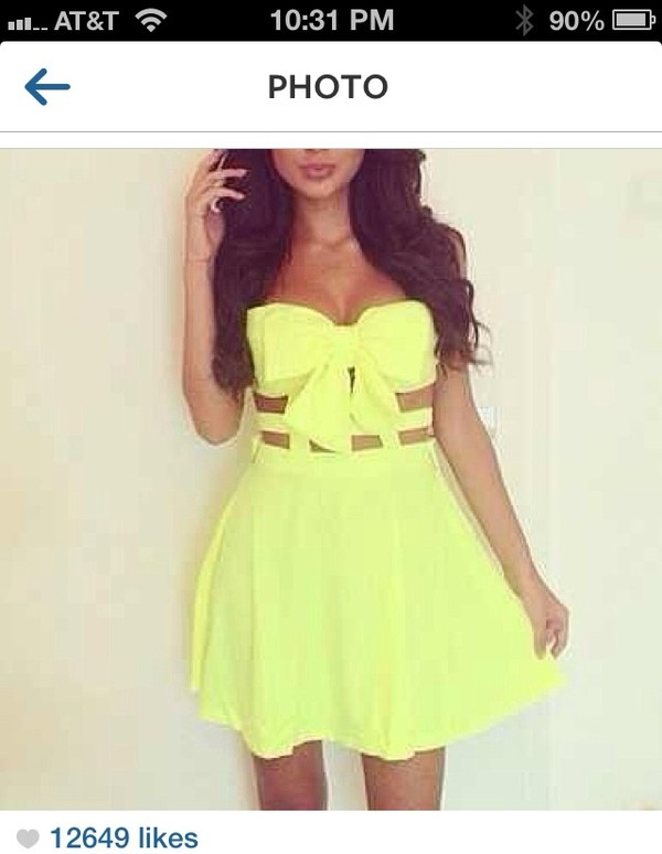 dress cute yellow girly