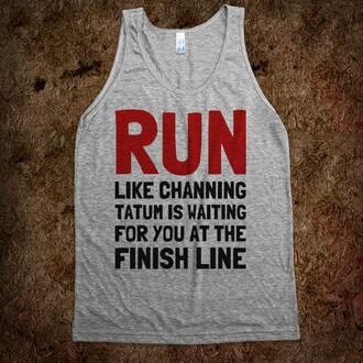 tank top running top running tank top grey top workout workout clothes clothes