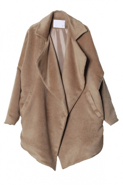 Free Sized Cropped Worsted Coat - OASAP.com