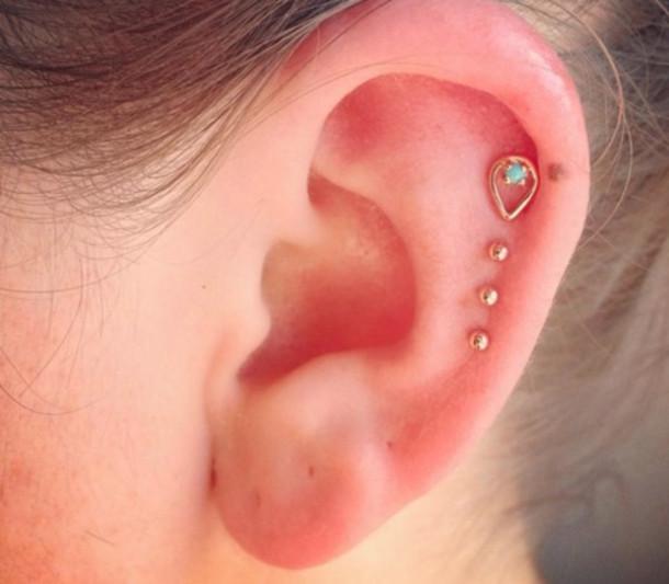 jewels delicate jewelry ear  Ear Cartilage Stud Earrings