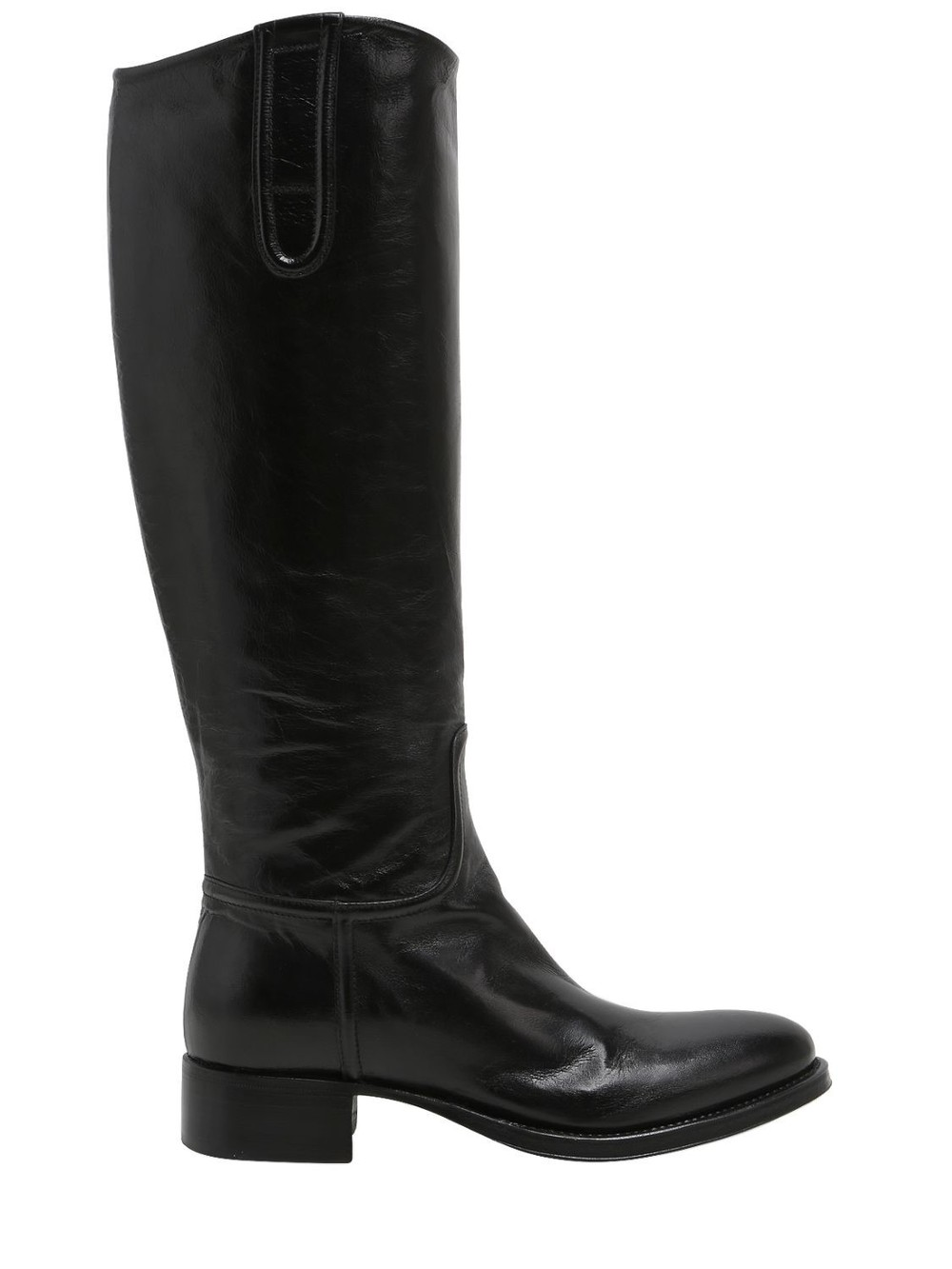 ROCCO P. 20mm Leather Rider Boots in black