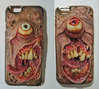 phone cover teeth eyes monsters weird iphone case iphone cover