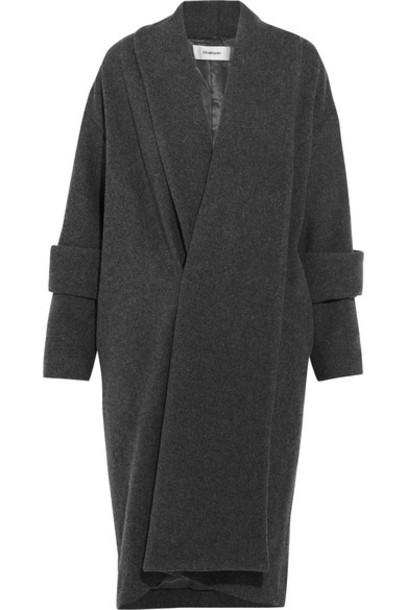 Chalayan - Oversized Wool-blend Coat - Dark gray