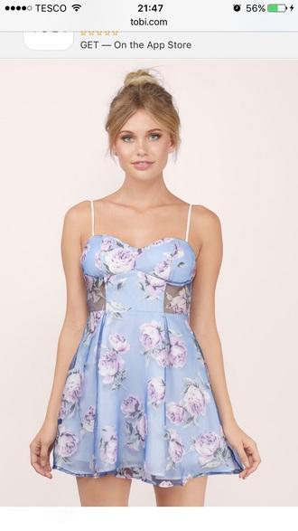 dress floral blue floral dress blue dress