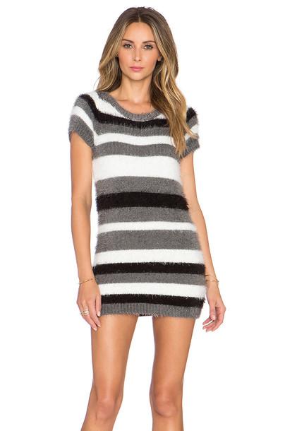 For Love & Lemons Fleetwood Sweater Dress in gray