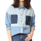 Minkpink soul patch oversize denim shirt - denim