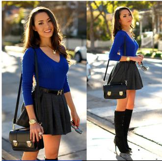 top blue royal blue royal blue jumper blue jumper cable knit v neck vneck jumper long sleeves pretty shoes