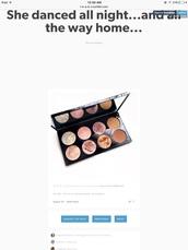 make-up,palette,blushes,pretty,bronzer,pink eyeshadow,makeup palette,eye shadow,gold eyeshadow,twitter find,eye makeup,contour,blush,highlighter,cheek blush,shimmer,pinks,rosy,bronze,brand