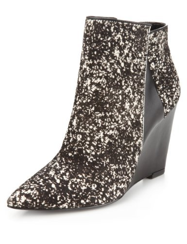 Autograph Ponyskin Pointed Toe Wedge Ankle Boots with Insolia® - Marks & Spencer
