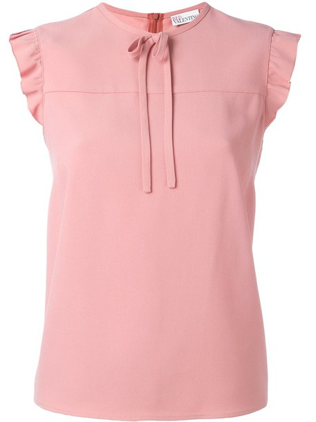 RED VALENTINO blouse ruffle women purple pink top