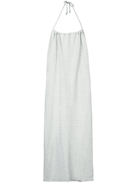 Kacey Devlin skirt women grey metallic