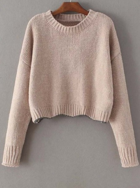 Sweater: girl, girly, girly wishlist, knit, knitwear, crop, crop ...