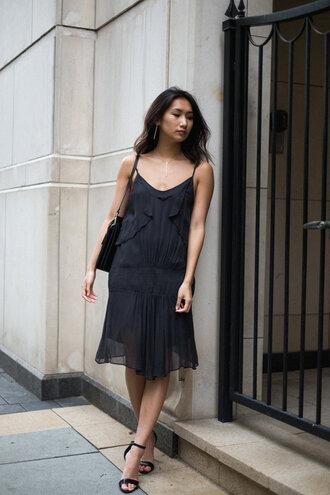 dress black dress tumblr slip dress sandals sandal heels high heel sandals black sandals bag black bag shoes jewels